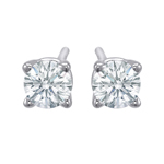 Premium Quality Classic Four-Prong Earring, (1/4ct. tw.), 18k w/g