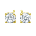 Premium Quality Classic Four-Prong Earring, (1/4ct. tw.), 18k y/g