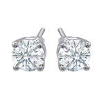 Premium Quality Classic Four-Prong Earring, (1/3ct. tw.), 18k w/g
