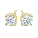 Premium Quality Classic Four-Prong Earring, (1/3ct. tw.), 18k y/g