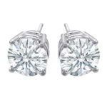 Premium Quality Classic Four-Prong Earring, (1/2ct. tw.), 18k w/g