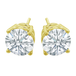 Premium Quality Classic Four-Prong Earring, (1/2ct. tw.), 18k y/g