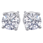 Premium Quality Classic Four-Prong Earring, (1 1/2ct. tw.), 18k w/g