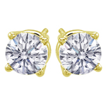 Premium Quality Classic Four-Prong Earring, (1 1/2ct. tw.), 18k y/g