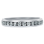 SOLENZA Meridian Matching Channel Band For Tulip Solitaire  in 18k White Gold, (1/4ct. tw.)