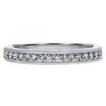SOLENZA Blossom Three Stone Ring Matching Band  in 18k White Gold, (1/5ct. tw.)