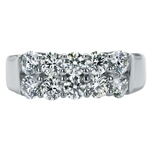 SOLENZA Sparkler Double Row Diamond Band  in 18k White Gold, (1 1/2ct. tw.)
