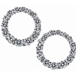SOLENZA Coronet Graduated Circle Diamond Earrings  in 18k White Gold, (5/8ct. tw.)