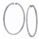 SOLENZA Adornment Circular Diamond Hoops in 18k White Gold, (2 1/2ct. tw.)