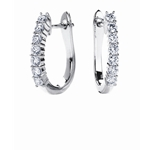 SOLENZA Adornment Single Row Diamond Huggies   in 18k White Gold, (1/2ct. tw.)