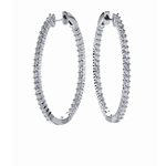 SOLENZA Adornment Oval Diamond Hoop  in 18k White Gold, (1 1/3ct. tw.)