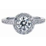 SOLENZA Elegance Negative Space Semi Mount 1ct Center in 18k White Gold, (1/2ct. tw.)