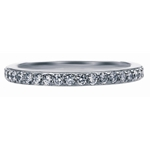 SOLENZA Elegance Negative Space Matching Band  in 18k White Gold, (1/4ct. tw.)